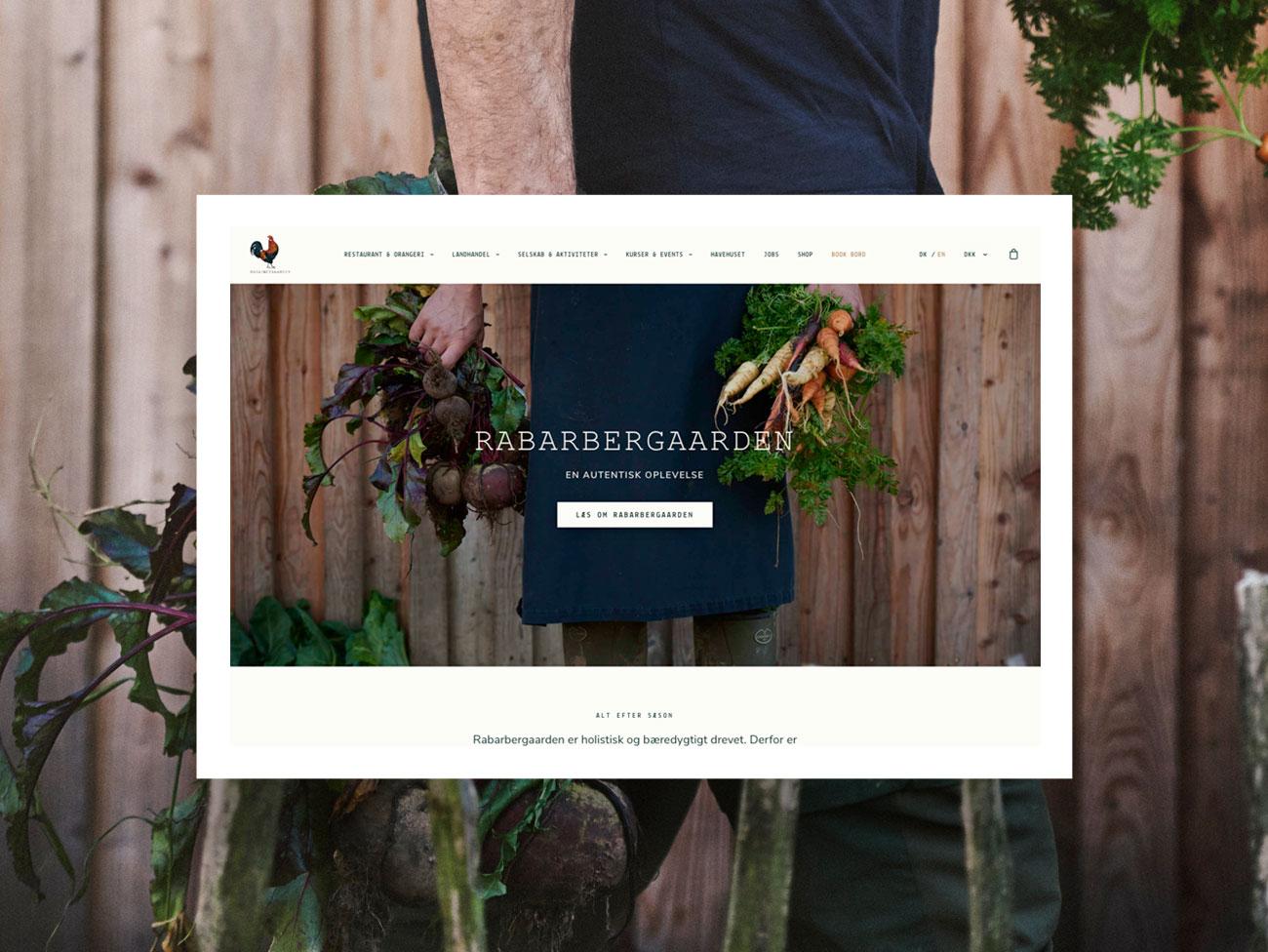 Webshop - Rabarbergården
